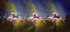 The Boy and the Teddy Bear (wheehamx) Tags: bear flight pinhole cory blend x3d