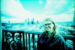 IMG_0004 London (spoeka) Tags: lomo lomography analog analogue 5mm kb dia slide xpro lcwide panorama kodakelitechromeed200 uk england london aussicht view skyline stpaulscathedral me selbstportrait selfportrait