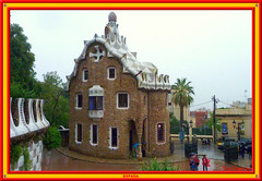 Gate House, Park Gell, Barcelona (vicbrasil) Tags: barcelona madrid people men children spain women bilbao zaragoza santiagodecompostela montserrat oviedo sansebastian pamplona santillanadelmar
