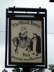 The Black Horse (paidetres) Tags: kent pub walk blackhorse pubsign thurnham