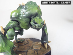 Toads 8 (whitemetalgames.com) Tags: red orange white green grey reaper bat large dragons pit gargoyle toad demon huge devil medium winged fiend dungeons pathfinder balor
