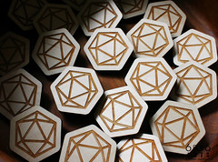 6by6Arts_d20pins4 (thea superstarr) Tags: dungeonsanddragons icosahedron dnd d20 madeinusa lasercut laserengraved 6by6arts