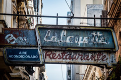 Signs of decay @ Havana (PaulHoo) Tags: cuba havana 2015 lightroom old nostalgic restaurant decay sign advertising neon nikon d700 vintage detail ilobsterit