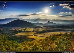 Always Playful (TranceVelebit) Tags: light sun mountains field silhouette afternoon shadows croatia lika plain velebit dinaricalps dinaridi