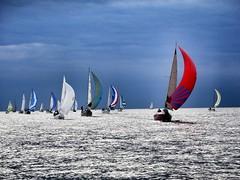 Racing at Genesee Yacht Club (Elkadrid) Tags: sunset lake water sailboat sailing racing greatlakes rochester sail regatta newyorkstate lakeontario genesee yachtclub racecommittee geneseeyachtclub wednesdayracing