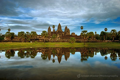 Angkor Wat, the Khmer Temple (fesign) Tags: reflection architecture landscape temple ruins cambodia southeastasia khmer palm siemriep angkorwatt