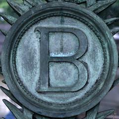 letter B (Leo Reynolds) Tags: b verdigris letter squaredcircle oneletter bbb grouponeletter xsquarex xleol30x sqset114 xxx2014xxx