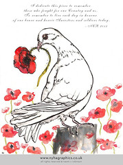 Dove of Peace and Remberrance by Naomi C Robinson (Hi Ni) Tags: november bird art illustration watercolor painting print artwork anniversary mixedmedia dove pigeons birdsong sketchbook watercolour etsy remembrance illustrate rockdove remembrancesunday warandpeace poppyfield whitedove doveofpeace birdart indieseller etsyart etsyuk poppyappealweddinggift