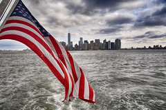 Downtown (MarkWarnes) Tags: nyc travel usa newyork ferry architecture nikon manhattan americanflag manhattanskyline hudsonriver boar starsandstripes downtownnewyork downtownmanhattan nikond750