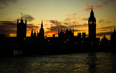 Westminster Sunset (avriel) Tags: city houses sunset england london westminster thames big ben parliament palace