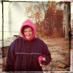 Vintage Melissa (SkySNAPS Photography) Tags: autumn fall up vintage october michigan roadtrip melissa greatlakes upnorth whitefishbay lakesuperior 2014 fakefilm lookslikefilm