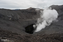 Bromo Crater (t3cnica) Tags: travel mountain nature danger indonesia volcano lava landscapes nationalpark dangerous smoke crater ash erupt bromo active mountbromo travelphotography