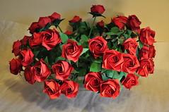 Roses by Toshikazu Kawasaki, folded by me. (marcinorigami) Tags: art rose origami toshikazukawasaki marcinpajda