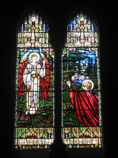 The John and Mary Boyes Memorial Stained Glass Window of the Garden of Gethsemane; St Judes Church of England - Corner of Lygon, Palmerston and Keppel Streets, Carlton