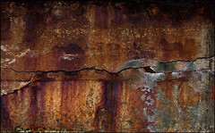 Maculated Diremption (Junkstock) Tags: california abstract color texture wall closeup dark concrete photography coast photo rust decay textures photographs photograph rusted weathered coastline abstraction aged norcal distressed corrosion decayed patina corroded concretography