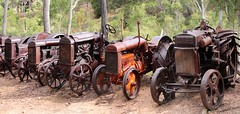 Vintage Tractors (aussiegypsy_on the road again) Tags: old heritage history vintage outdoors display antique farm transport australian australia historic collection machinery queensland vehicle outback aussie past pioneer reclaimed athertontablelands pioneering pioneermuseum bygone herberton