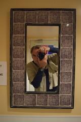 Self-Portrait, Rose Park Roasters (jjldickinson) Tags: nikond3300 101d3300 nikon1855mmf3556gvriiafsdxnikkor promaster52mmdigitalhdprotectionfilter roseparkroasters coffeehouse selfportrait jacobdickinson metaphotography bathroom mirror camera longbeach