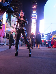 Mistress Dominatrix wearing PVC catsuit, corset and platform spiked high heels in Times Square New York City on New Years Eve 2014 - 2015 (RYANISLAND) Tags: nyc newyorkcity usa holiday ny newyork america us manhattan 14 broadway 15 american timessquare newyearseve newyeareve happynewyear 212 2014 2015 bway timessquarenewyork timessquarenyc timessquarenewyorkcity timessquareballdrop timessquareny areacode212