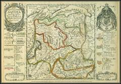 """3424 ExLibris2 Savoya Original Copper engraved map Augsburg Johann Stridbeck Junior (1665 - 1714) Europa Paises - Countries Italia Das Hertzogthum Savoya nach des Selben...Provincien Mapas """"Augsburg, Johann Stridbeck Junior fecit et excudit"""""""
