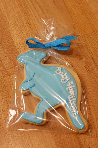Kangaroo Baby shower cookie favors