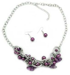 Glimpse of Malibu Purple Necklace K3 P2430A-1