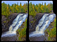 Kakabeka Falls 3D ::: DRi Cross-Eye Stereoscopy (Stereotron) Tags: 3d 3dphoto 3dstereo 3rddimension spatial stereo stereo3d stereophoto stereophotography stereoscopic stereoscopy stereotron threedimensional stereoview stereophotomaker stereophotograph 3dpicture 3dglasses 3dimage crosseye crosseyed crossview xview cross eye pair freeview sidebyside sbs kreuzblick hyperstereo twin canon eos 550d yongnuo radio transmitter remote control synchron in synch kitlens 1855mm tonemapping hdr hdri raw cr2 north america canada ontario thunderbay kakabekafalls indiansummer waterfall 3dframe fancyframe floatingwindow spatialframe stereowindow window kaministiquia river oliver paipoonge 100v10f