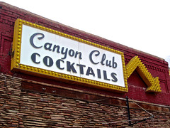 Canyon Club, Williams, AZ (Robby Virus) Tags: arizona food beer sign bar club route66 pub williams dancing canyon mexican liquor alcohol tavern booze arrow liquors cocktails package