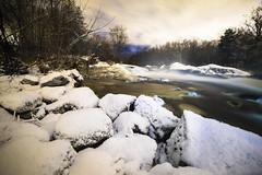 Ice rocks (Julia Lundin) Tags: winter snow cold night vinter sweden sony sverige fullframe sn a7 longshuttertime 14mm samyang samyang14mm