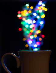Sparkling Cup of Coffee - [3/52] [Shallow Depth of Field] (trustypics) Tags: hot cup coffee bokeh steam mug sparks shallowdepthoffield 2015 january22 weekstartingthursday week42015 52weeksthe2015edition