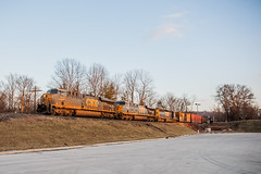 Last Light (sullivan1985) Tags: railroad winter ny newyork train january orangecounty ge generalelectric freighttrain riverline emd sd402 csxt es44dc csxtransportation es44ac q439 riversub cp22