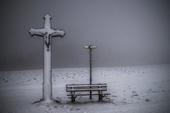 Jesus its cold (PiConsti) Tags: winter snow way switzerland christ path jesus bank basel sit guide solothurn gempen piconsti