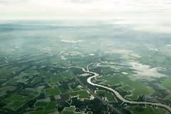 Vietnam (Jason Pineau) Tags: above water river landscape farm farming aerial vietnam