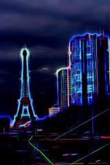 eiffel tower (lujm92110) Tags: blue light paris france color building tower night nikon tour cloudy eiffeltower eiffel bleu lumiere toureiffel nuit couleur immeuble non nuageux d7100 simplysuperb