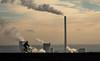 riding against the wind (bernd obervossbeck) Tags: chimney industry bike bicycle dump pile leisure recreation industrie ruhrgebiet freizeit nordrheinwestfalen fahrrad kamin herten halde fahrradfahrer haldehoheward