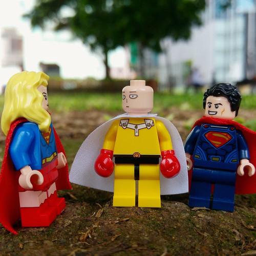 """Embrace your inner Super Hero.""(http://MiniPlayHouse.com)#lego #minifigures #superman #supergirl #superhero #onepunchman #toy #photography #cosplay #comic #japan #marvel"