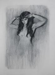 Fugue 1 (mikecreighton) Tags: original portrait blackandwhite woman art film artwork experimental drawing circus aerial charcoal cinderella figurative fugue indiegogo