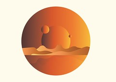 IXD 104 Illustration Space Summer (Paul McGlade) Tags: world orange colour weather paul death space birth nasa planet mcglade