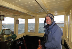 Barbara at the helm (chessieboater) Tags: scotland puffer vic32