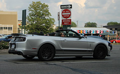 Ford Shelby GT500 Convertible (RudeDude2140a) Tags: ford sports car silver convertible exotic shelby mustang svt gt500
