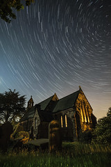 The Old Church ([Nocturne]) Tags: old longexposure nightphotography lightpainting church overgrown graveyard grass stars lowlight religion churches graves churchyard nocturne startrails lowlightphotography noctography ledlenser