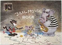 Jail Mouse Rock (Alex Rinesch) (Leonisha) Tags: music elephant cat mouse chat cartoon puzzle katze musik elefant jigsawpuzzle maus