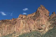 Rock wall above our route (rozoneill) Tags: lake oregon river carlton butte desert hiking painted canyon vale trail backpacking saddle blm uplands owyhee honeycombs