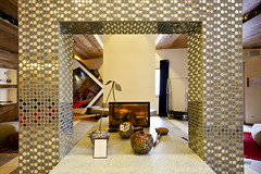 Lobby fireplace (A. Wee) Tags: france hotel fireplace lobby pashmina valthorens   lerefuge