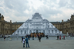 The Louvre is closing for the day (Monceau) Tags: pyramid dusk louvre jr