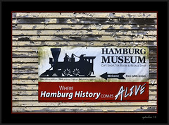 Hamburg History (the Gallopping Geezer 3.5 million + views....) Tags: old building history sign museum mi canon display michigan hamburg ad structure historic signage backroads hdr smalltown geezer advertise 24105 2016 5d3