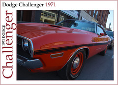 1971 Dodge Challenger (Explore) (ROHphotos.) Tags: 1971 musclecar challenger car classic nonexplore explore inexplore red dodge street orange