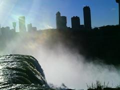 water rushing top corner of falls (clubsummerlands) Tags: usa tourism niagarafalls engineering niagara falls americanfalls