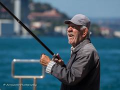 Street 137 (`ARroWCoLT) Tags: sea hat canon turkey bokeh türkiye oldman istanbul cap fisher tamron bosphorus boğaziçi olta fishingline üsküdar şapka balık balıkçı sescape 700d 70300vc