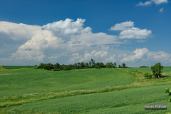 Anita Farmland (kevin-palmer) Tags: storm stormy thunderstorm june summer sky weather clouds nikond750 tamron2470mmf28 iowa loesshills scenicoverlook tower i680 interstate freeway afternoon cumulonimbus blue green grass anita distant circularpolarizer