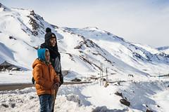 Manoucheka y Jeff (Valentina Estay Reyes (V.E.R.)) Tags: 2016 haiti haitiana manoucheka paisaje snow nieve cordillera